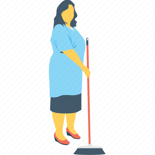 cleaner, janitor, maid, mop, sweeper icon