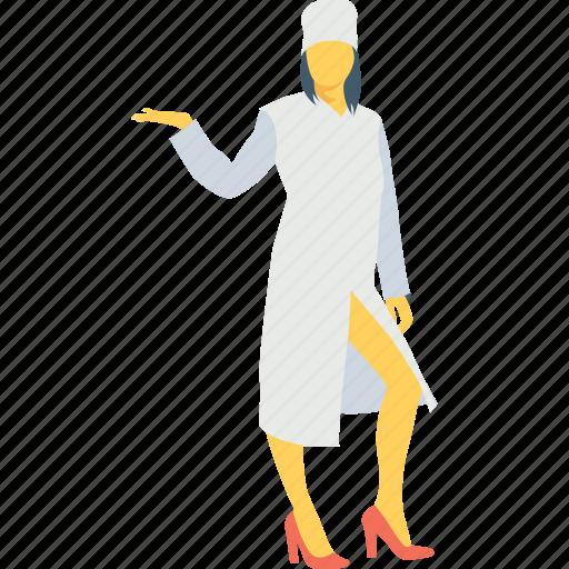 female, hotel, server, waitperson, waitress icon
