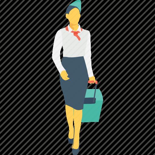 air hostess, hostess, steward, stewardess icon