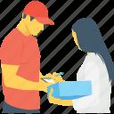 courier, delivery service, logistics, package, parcel
