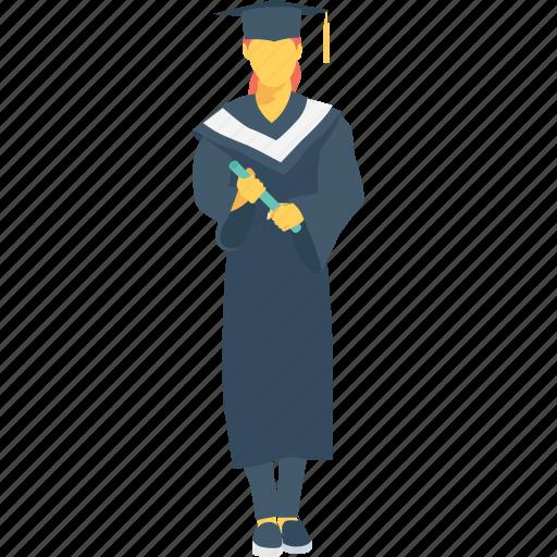 degree, diploma, graduate, scholar, student icon