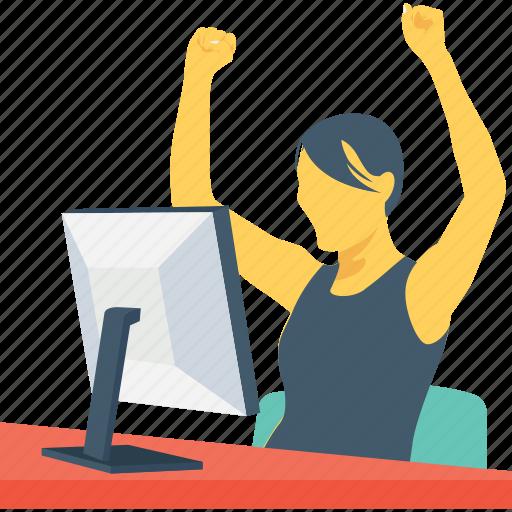 freelancer, online work, task, work, working icon