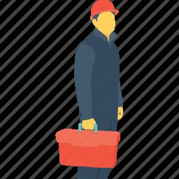 craftsperson, occupation, profession, repair, technician icon