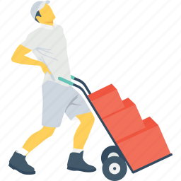 cargo, carriage, delivery, shipping, tired icon