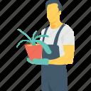 agronomist, plant, agriculturist, gardener, flowering plant