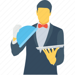 butler, food server, food service, waiter, waiting staff icon