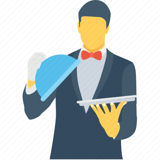 butler, food server, food service, waiter, waiting staff icon