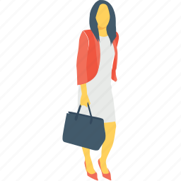 bag, female, girl, lady, woman icon