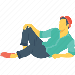human, person, relax, rest, sitting icon