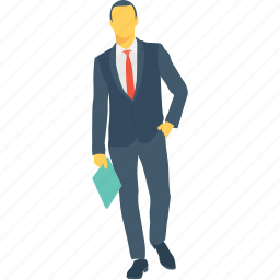 accountant, business person, businessman, executive, officer icon