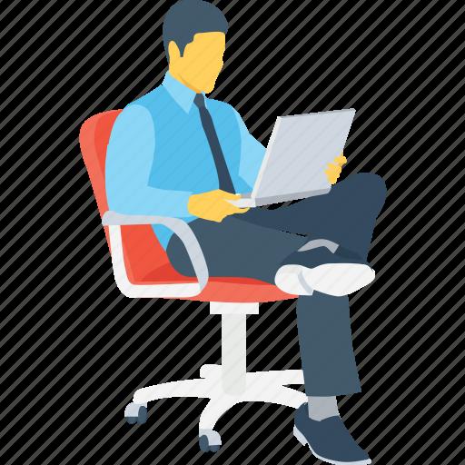 employee, freelancer, online working, work, workstation icon
