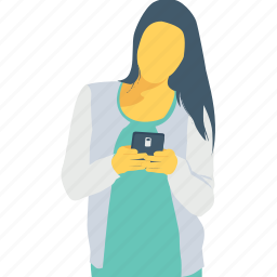 cell, chat, communication, mobile, smartphone icon