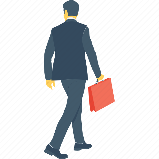 briefcase, business person, businessman, executive, officer icon