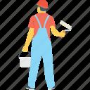 colorman, house painter, labour, painter, worker
