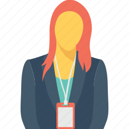 assistant, employee, female, miss, secretary icon