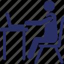 internet user, office employee, student, user, web user icon