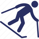 leisure, silhouette, skier, skiing, sports icon