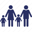 family, father, genealogy, home, kids icon