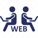 internet surfers, internet users, it staff, web developers, web user icon