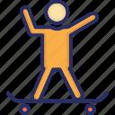 skateboarder, skateboarding, skating, sports icon