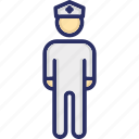constable, officer, pilot, police officer, policeman icon