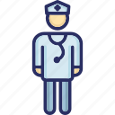 doctor, male doctor, medical assistant, medical practitioner, physician icon