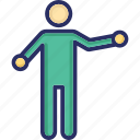 act, action, man, motion, movement icon
