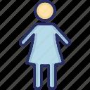 child, daughter, girl, kid, schoolgirl icon