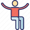 person, sitting, sitting pose, spectator, viewer icon