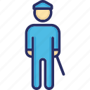 doorman, guard, security guard, security officer, watchman icon