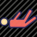 avatar, exerciser, lying, man, person icon
