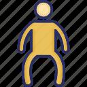 fitness, gym, gymnastics, man, stretching exercises icon