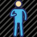 broken arm, fractured arm, injured, man, patient icon
