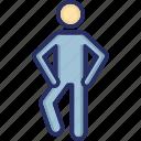 athlete, exerciser, gymnast, man, stretching icon