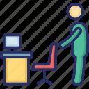 workman, officer, office, employee, worker icon
