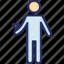 arm fractured, broken arm, injured, man, patient icon