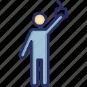 bus passenger, man standing, passenger, traveller icon