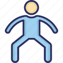 act, action, activity, man, motion icon