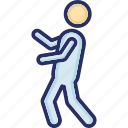 act, activity, cricketer, man, motion icon