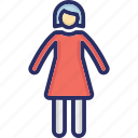 child, daughter, girl, kid, minor icon
