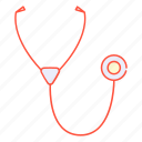 beat, breath, fonendoscope, heart, listen, medical, stethoscope icon
