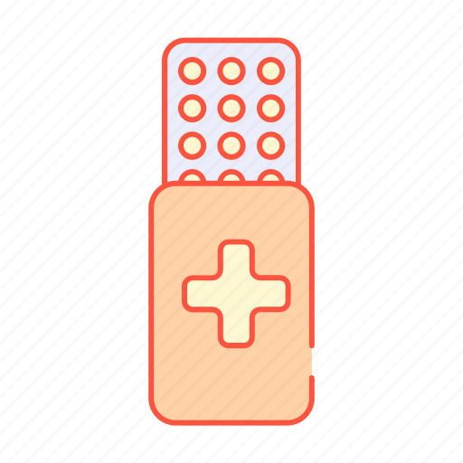 heal, health, ill, medicine, pack, pain, tablet icon
