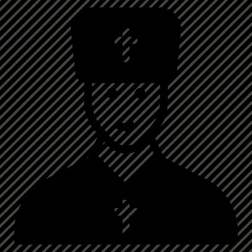 catholic person, christianity, father, religious orthodox, religious person icon