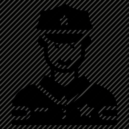 constable, cop, patrolman, police officer, policeman icon