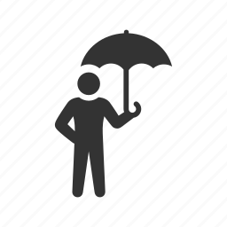dry, insurance, protection, rain, safe, secure, umbrella icon