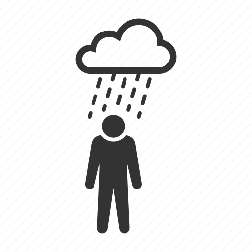 insecure, insurance, rain, security, uncovered, unsafe, wet icon