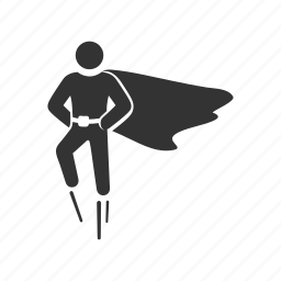 cape, fly, flying, hero, super human, super powers, superman icon
