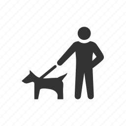 animal, care, dog, harness, leash, owner, pet icon