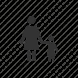 care, childcare, daughter, female, mother, mum, nurture icon