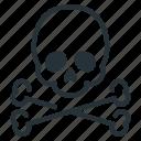 attention, death, skull, danger
